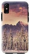 Magical Winter Landscape, Background IPhone X Tough Case
