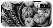 Mimi Pumpkins In Wicker Bowl Black And White IPhone X Tough Case