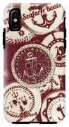 Mooring In Maroon  IPhone X Tough Case