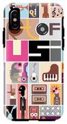 Musical Collage Of Various Images - IPhone X Tough Case