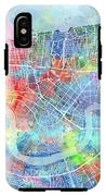 New Orleans Map Watercolor IPhone X Tough Case