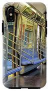 New York City Empty Subway Car IPhone X Tough Case