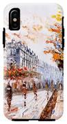 Oil Painting - Street View Of Paris IPhone X Tough Case