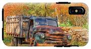Old Farm Truck Fall Foliage Vermont Square IPhone X Tough Case