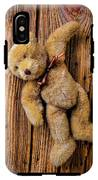 Old Teddy Bear Hanging On The Door IPhone X Tough Case