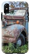 Old Vintage Blue Pickup Truck Among The Weeds IPhone X Tough Case