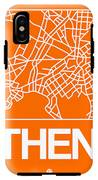 Orange Map Of Athens IPhone X Tough Case