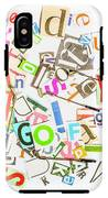 Play On Golf Words IPhone X Tough Case