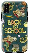 School And Education Doodles Hand Drawn IPhone X Tough Case