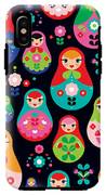 Seamless Colorful Retro Russian Doll IPhone X Tough Case