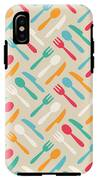 Seamless Cute Pattern With Color IPhone X Tough Case