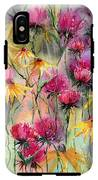 Shiny Rudbeckia And Thistle IPhone X Tough Case
