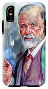 Sigmund Freud Portrait II IPhone X Tough Case