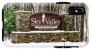 Sky Valley Georgia Welcome Sign In The Snow IPhone X Tough Case