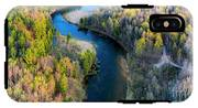 Springtime On The Manistee River Aerial IPhone X Tough Case