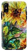Sunflowers Summer Flowers Mixed Media IPhone X Tough Case