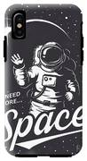 T-shirt Design Print. Space Theme IPhone X Tough Case