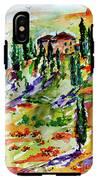 Tuscan Sunset Italian Hillside Landscape IPhone X Tough Case