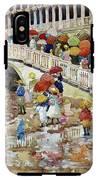 Umbrellas In The Rain - Digital Remastered Edition IPhone X Tough Case