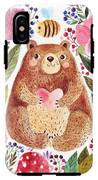 Vector Illustration Adorable Bear In IPhone X Tough Case