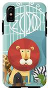 Vector Illustration Card With Animals IPhone X Tough Case