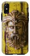 Viking Mask On Old Door IPhone X Tough Case