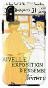 Vintage Poster Advertising A Exhibition At The Salon Des Cent, 1896  IPhone X Tough Case