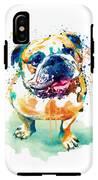 Watercolor Bulldog IPhone X Tough Case
