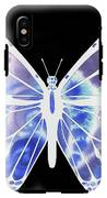 Watercolor Butterfly On Black V IPhone X Tough Case