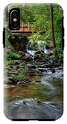 Waterfall With Wooden Bridge IPhone X Tough Case