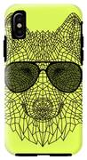 Woolf In Black Glasses IPhone X Tough Case
