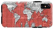 World Map Landmarks Skyline 3 IPhone X Tough Case