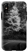 Yellow Tree In The Curve In Black And White IPhone X Tough Case