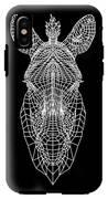 Zebra Mesh IPhone X Tough Case