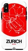 Zurich Red Subway Map IPhone X Tough Case