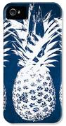 Indigo And White Pineapples IPhone 5 Case by Linda Woods