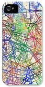 Paris France Street Map IPhone 5 Case by Michael Tompsett
