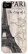 Vintage Travel Poster Paris IPhone 5 Case by Debbie DeWitt