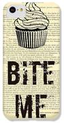 Cupcake Bite Me Typography IPhone 5c Case by Madame Memento