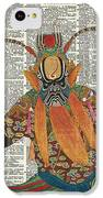 Pekin Opera Chinese Costume Over A Old Dictionary Page IPhone 5c Case by Anna W