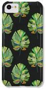 Tropical Leaves On Black- Art By Linda Woods IPhone 5c Case by Linda Woods