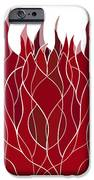 Psychedelic flames iPhone Case by Frank Tschakert