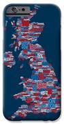Great Britain Uk City Text Map IPhone 6s Case by Michael Tompsett