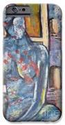 Woman Blue IPhone 6s Case by Chaline Ouellet