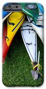 A Stack Of Kayaks IPhone Case by Amy Cicconi