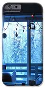 Alaska Christmas Window Decorations And Lights Viewing Sunlit Illuminated Snowy Forest Trees IPhone 6s Case by Elizabeth Stedman