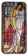 Angel Stained Glass Window IPhone Case by Thomas Woolworth
