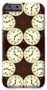 Antique Clock Abstract . Vertical IPhone Case by Renee Trenholm