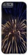 Blue Over Orange Fireworks Galveston IPhone 6s Case by Jason Brow
