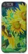 Colorful Original Sunflowers Flower Garden Art Artist K. Joann Russell IPhone 6s Case by Elizabeth Sawyer